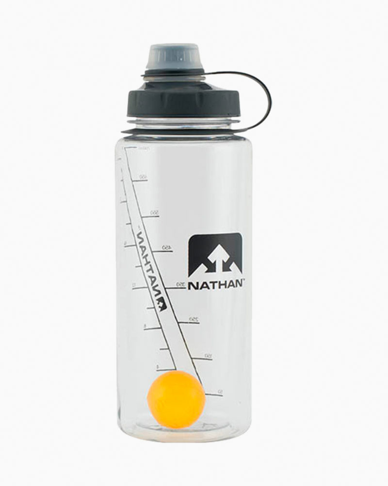 Nathan Clear Orange Big Shot Water Bottle