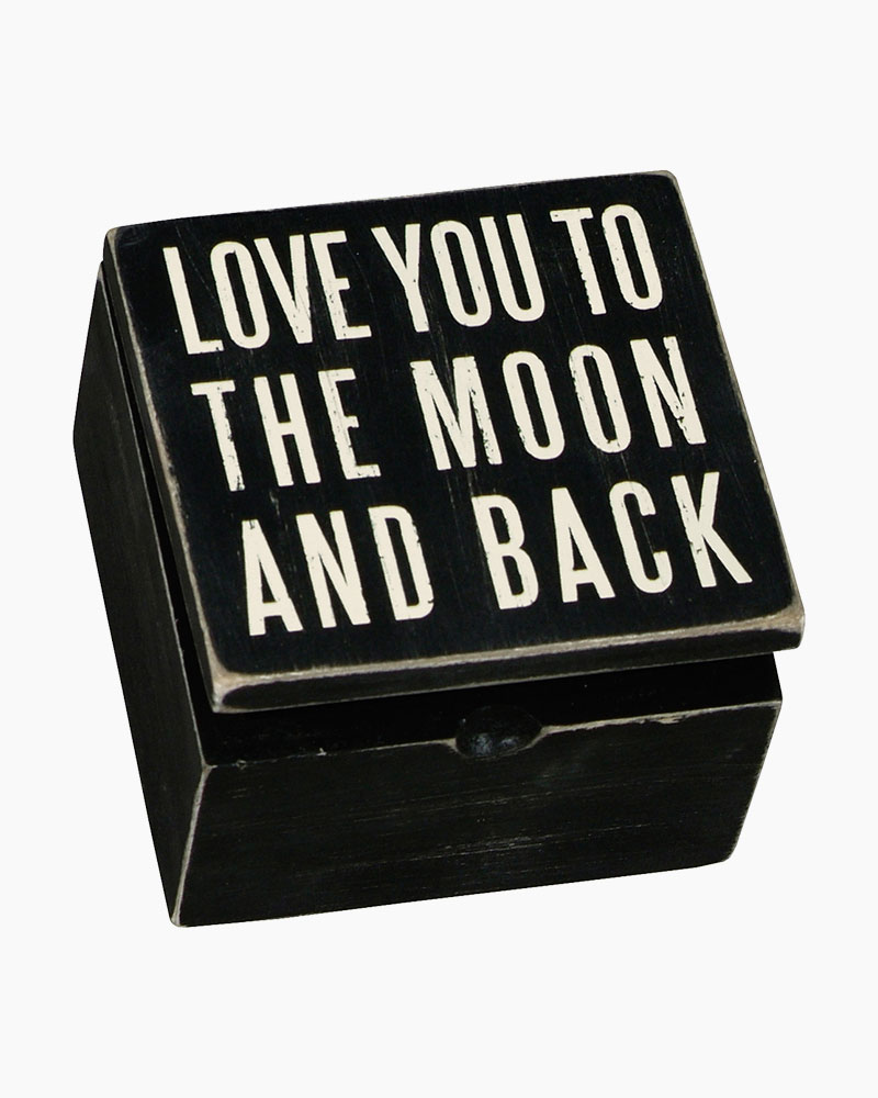 Primitives by Kathy To The Moon Wooden Box Sign Box