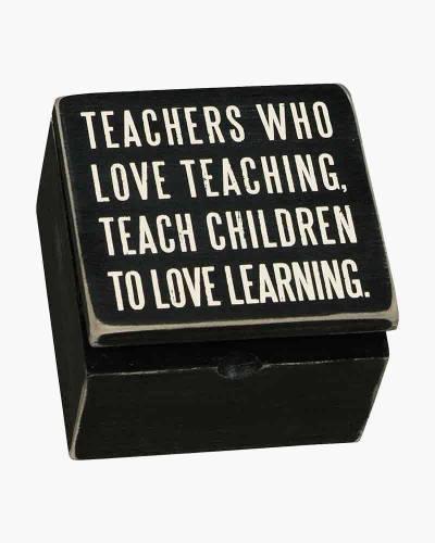 Teachers Love Wooden Box Sign