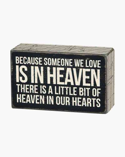 In Our Hearts Wooden Box Sign (NO STOCK 994 5.31.19)