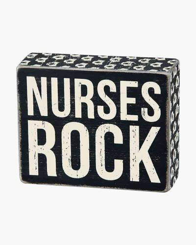 Nurses Rock Wooden Box Sign