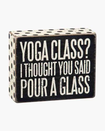 Yoga Class Sign