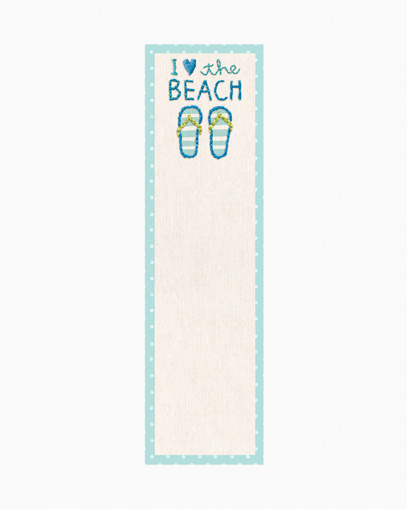 Primitives by Kathy I Love The Beach Flip-Flops List Pad