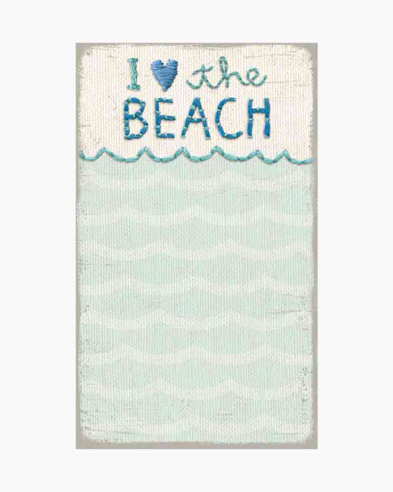 Primitives by Kathy I Love Beach Waves Notepad