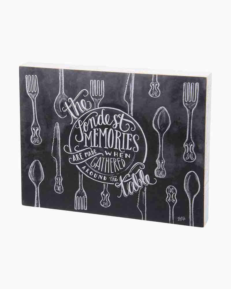 Primitives by Kathy Fondest Memories Chalk Sign