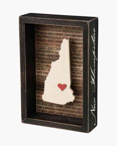 New Hampshire Wooden Box Sign
