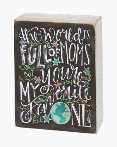 Favorite Mom Chalk Wooden Sign