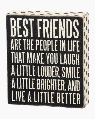 Best Friends Wooden Box Sign