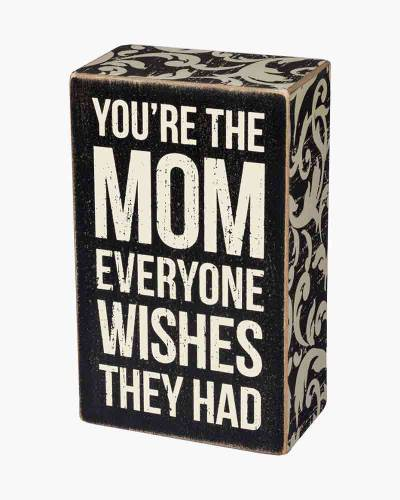 The Mom Wooden Box Sign