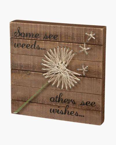Wishes String Art Box Sign