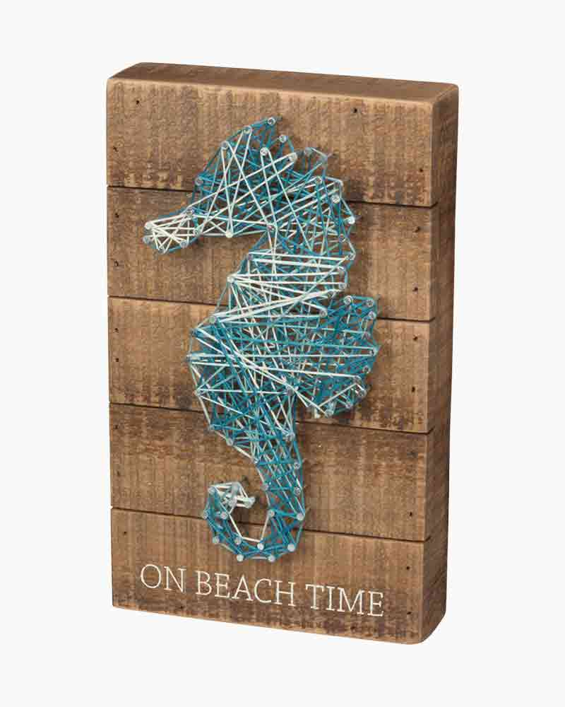 Primitives by Kathy Beach Time String Art Box Sign