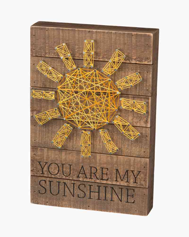 Primitives by Kathy Sunshine String Art Box Sign