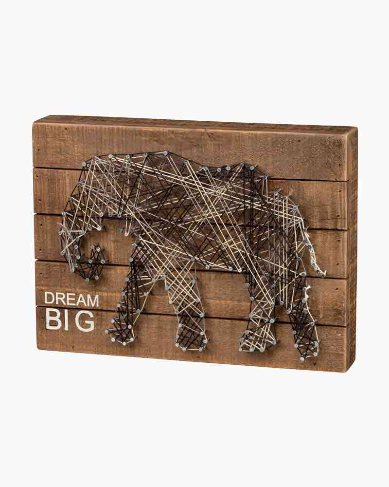 Primitives by Kathy Dream Big String Art Wooden Wall Sign