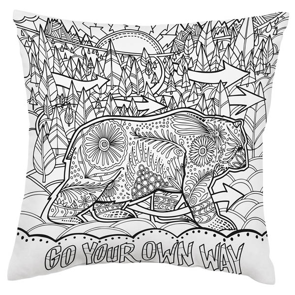 Primitives by Kathy Own Way Coloring Pillow