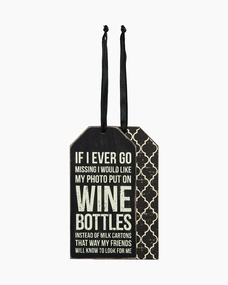 Primitives by Kathy Wine Bottles Wine Tag