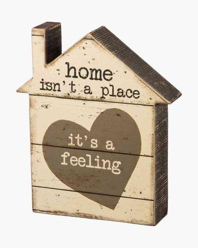Home is a Feeling Chunky Wooden Sign
