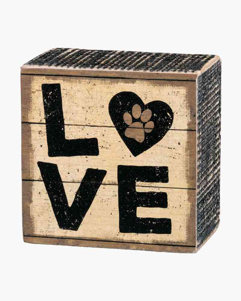 Primitives by Kathy Love Paw Print Wooden Box Sign