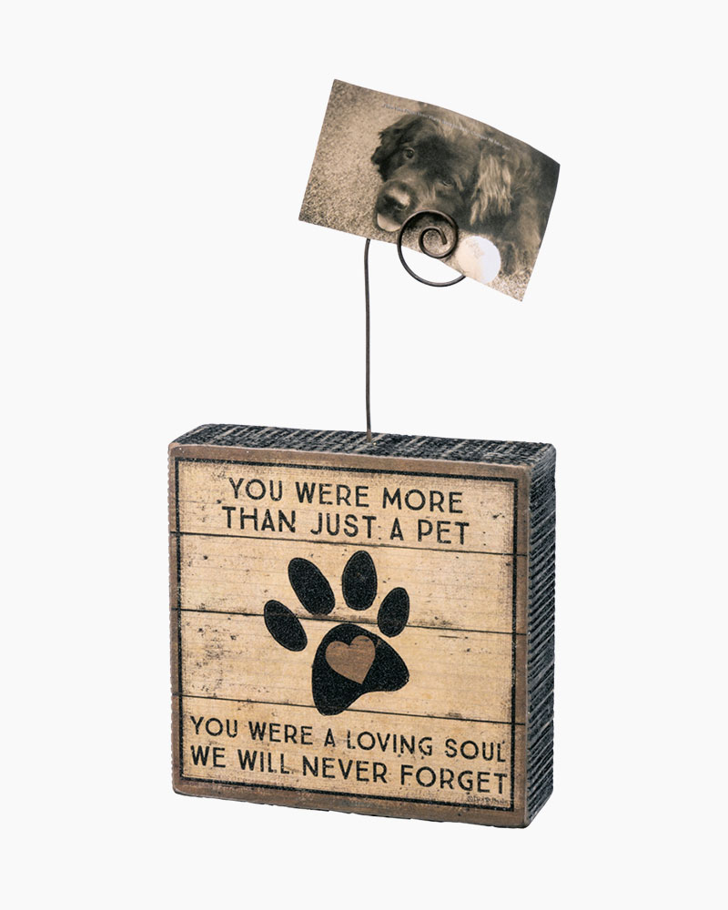 Primitives by Kathy More Than a Pet Wooden Photo Block