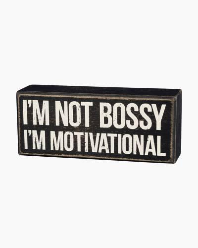 Motivational Wooden Box Sign