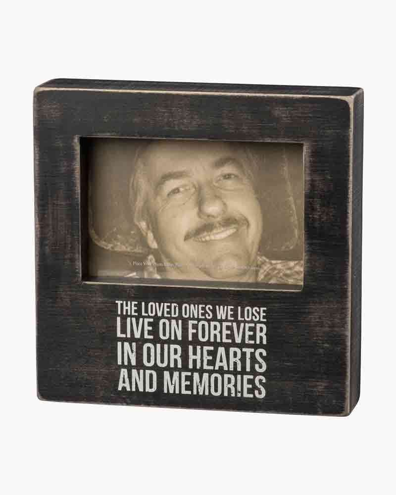 Primitives by Kathy Loved Ones Live Forever Wooden Box Frame