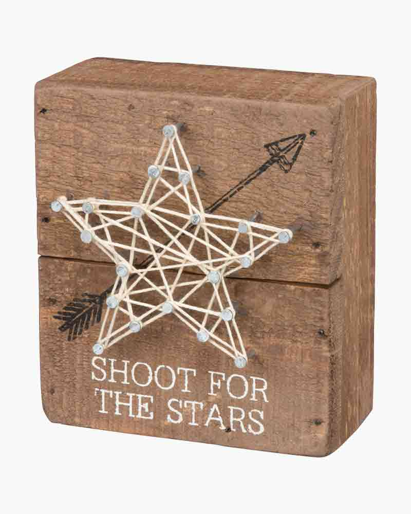 Primitives by Kathy Shoot for Stars String Art Wooden Sign