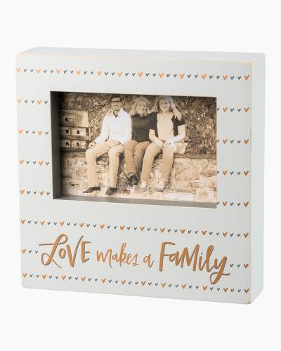 Love Makes a Family Wooden Box Frame