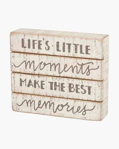 Life's Little Moments Wooden Box Sign