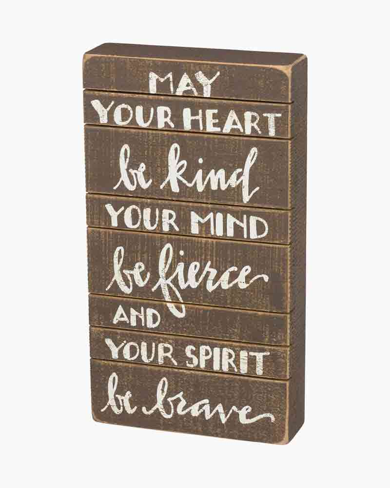 Primitives by Kathy May Your Heart Wooden Box Sign