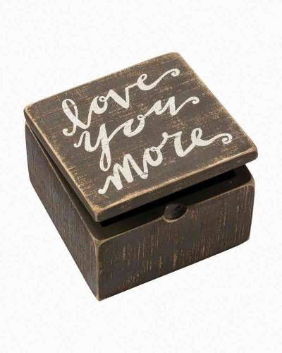 Love You More Wooden Slat Box