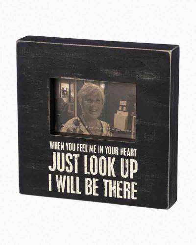 Just Look Up I Will Be There Wooden Box Frame