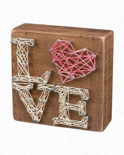Stacked Love String Art Wooden Sign