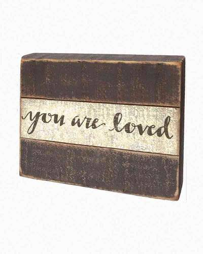 You Are Loved Wooden Slat Box Sign