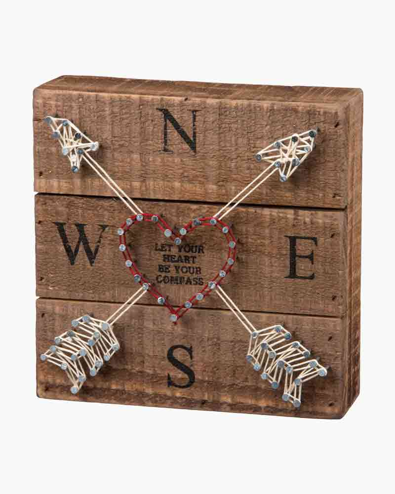 Primitives by Kathy Compass String Art Wooden Sign