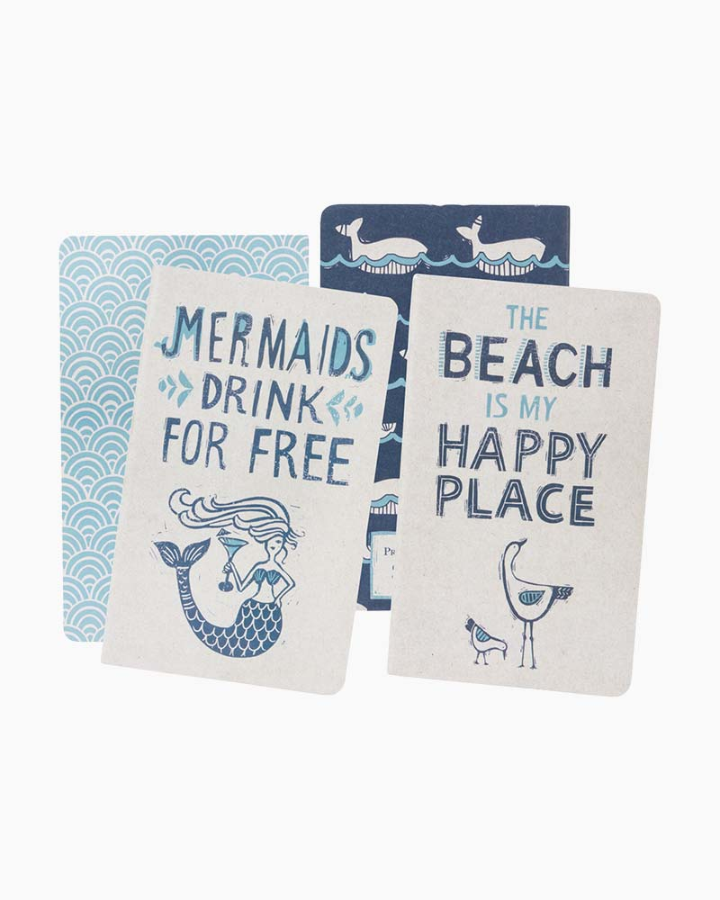 Primitives by Kathy Mermaids Happy Place Large Notebook Set