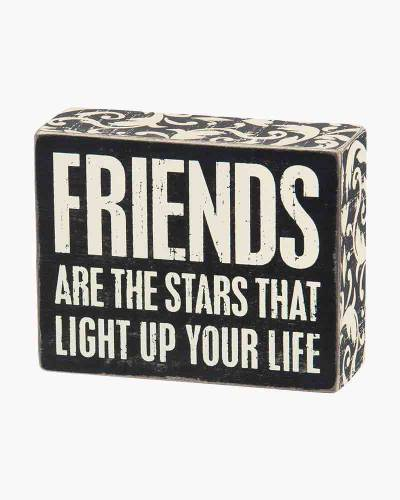 Friends are Stars Wooden Box Sign