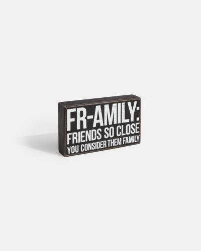 Fr-Amily Box Sign