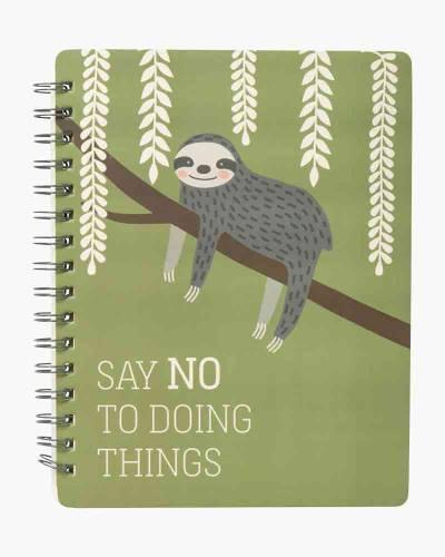 Say No Sloth Spiral Notebook