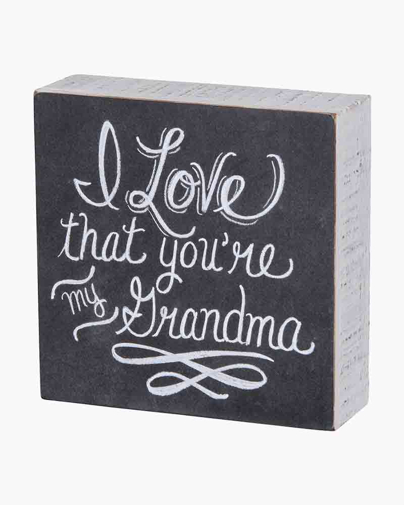 Primitives by Kathy My Grandma Wooden Box Sign