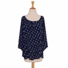 Lucy Love Anchor and Star 3/4 Sleeve Top