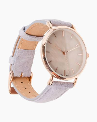 Mother of Pearl Watch in Grey