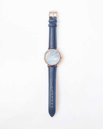 Exclusive Mother-of-Pearl Watch in Navy