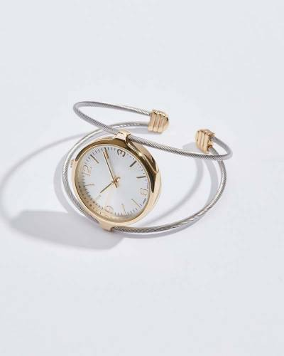 Two-Tone Cuff Watch