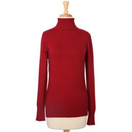 The Paper Store Burgundy Turtleneck Sweater