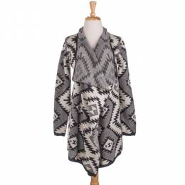 The Paper Store Aztec Print Sweater Cardigan