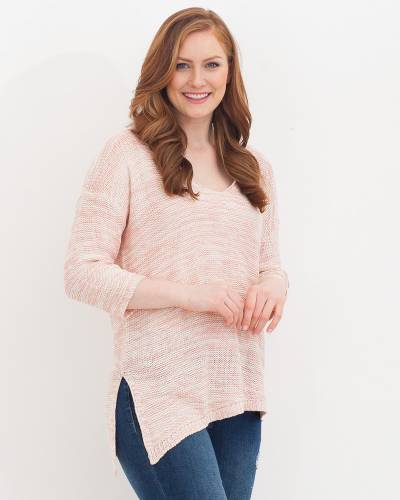 Heather Pink Knit Sweater