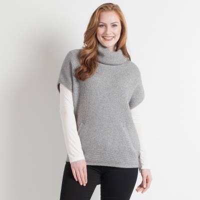 Exclusive Sleeveless Turtleneck Sweater