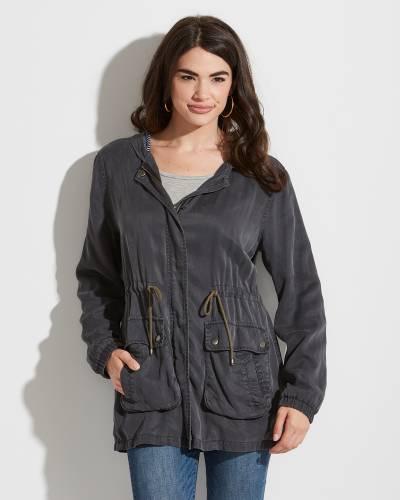Exclusive Charcoal Anorak Jacket