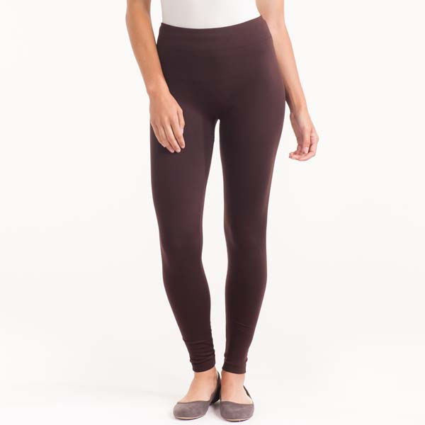 EHL Imports Solid Fleece-Lined Legging