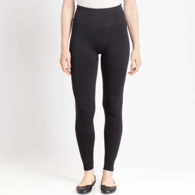 Black Popcorn Fleece Leggings