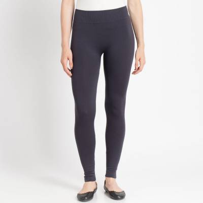 Steel Grey Popcorn Fleece Leggings